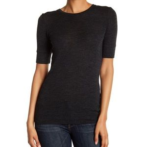 Vince Short Sleeve Crewneck Wool Sweater Tee